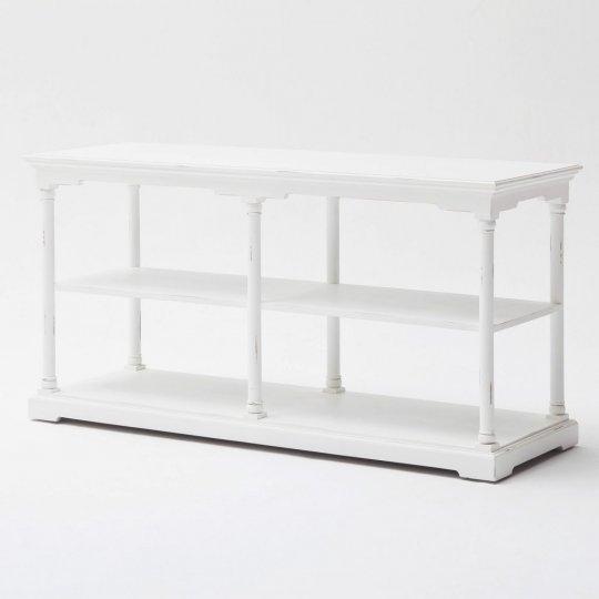 Regal Weiß 160x80x55cm Mahagoni Massiv
