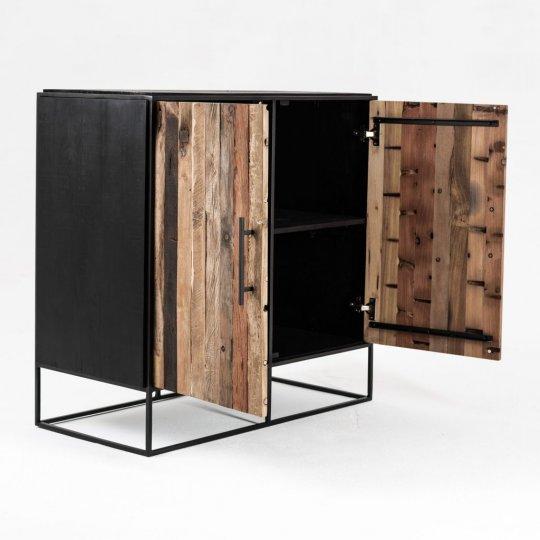 Sideboard Bootsholz Metall 90x90x45cm Massiv
