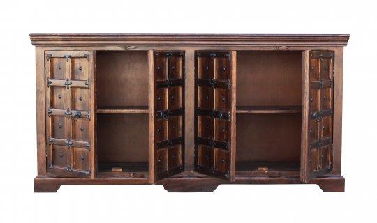 Kolonialmöbel Sideboard 180x90x40cm Massivholz mit Verzierungen