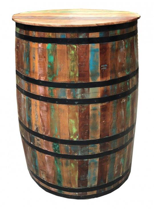 Shabby Vintage Barschrank 67x90x67cm Massiv