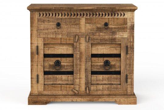Kolonial Möbel Kommode 100x90x50cm Massivholz Mango