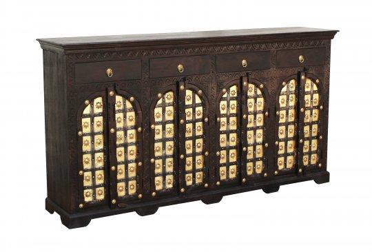 Kolonial Möbel Sideboard 205x110x45cm Massiv