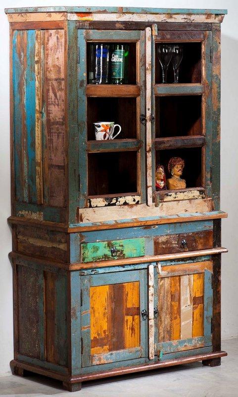 Shabby Chic Vintage Möbel Büffet 98x178x50cm