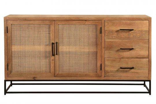 Mango Rattan Vintage Sideboard 150x80x35cm Massiv