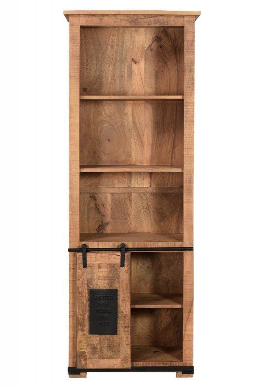 Mango Vintage Bücherschrank 66x180x32cm Massiv