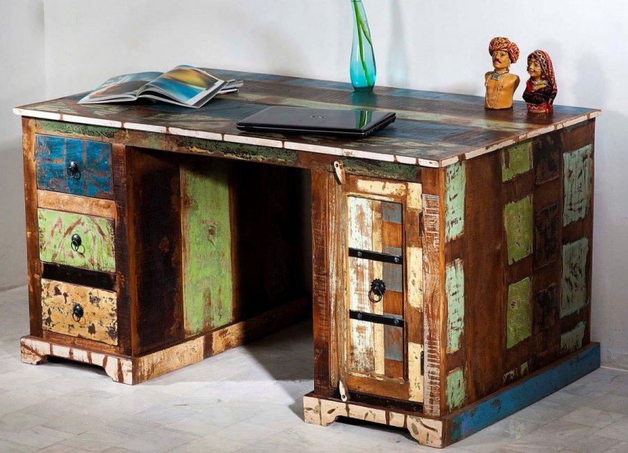 Schreibtisch vintage  Vintage Schreibtisch Kolonial Möbel 150x76x85cm