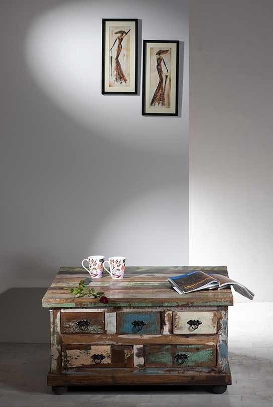 vintage m bel couchtisch truhe 90x47x90cm. Black Bedroom Furniture Sets. Home Design Ideas