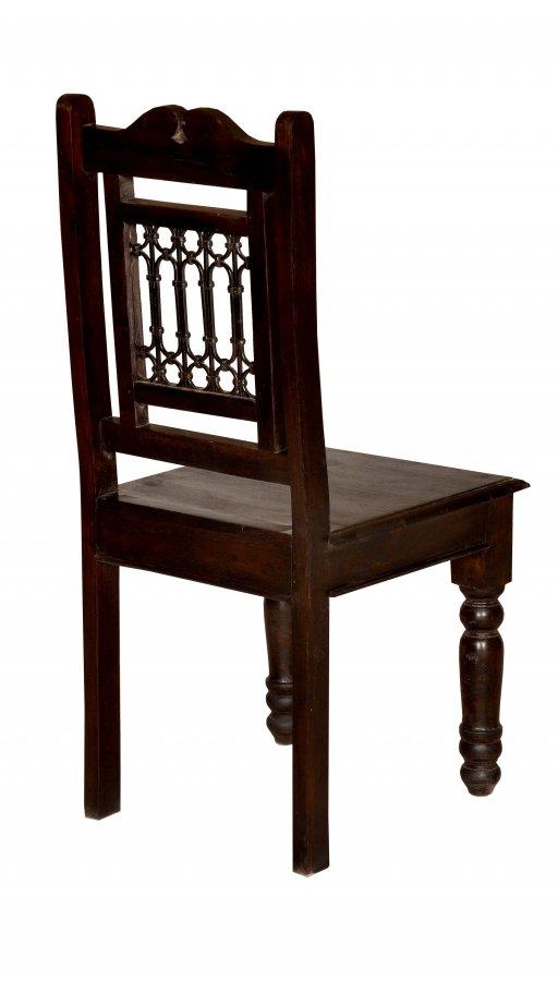 4x Kolonial Stuhl 44x98x45cm Massivholz