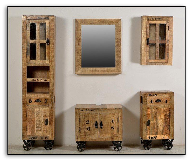Exceptional Vintage Badezimmer Komplett Massivholz