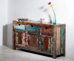 Vintage Kolonial Möbel Sideboard 150x85x40cm