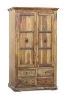 Akazie Massivholz Kleiderschrank 107x188x60cm