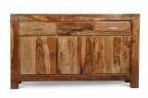 Massivholz Kommode Sideboard Akazie 145x85x45cm
