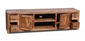 Akazien Möbel TV Board 195x55x45cm Massiv