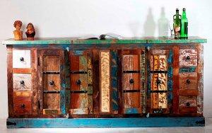 Vintage Möbel Sideboard massiv 212x93x50cm