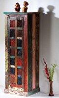 Shabby Chic Möbel Vintage Schrank 55x150x45cm