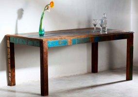 Vintage Möbel Massivholz Esstisch 90x180cm