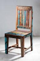 4x Vintage Stuhl 50x100x46cm Massiv