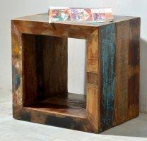 Vintage Würfel Cube Couchtisch 45x45x35cm