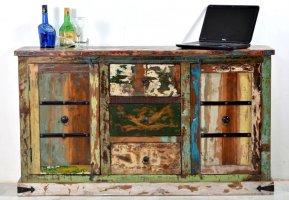 Vintage Kolonial Möbel Kommode 150x90x40cm Massiv