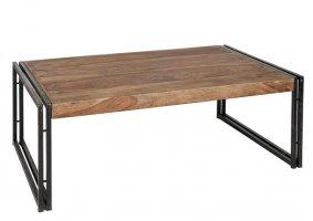 Sheesham Holz Möbel Couchtisch 120x40x80cm Massiv