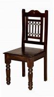 6x Kolonial Möbel Stuhl 44x98x45cm Massiv