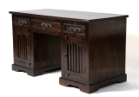Kolonial Möbel Schreibtisch 140x78x60cm Massiv