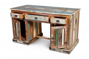 Vintage Möbel Schreibtisch Altholz 140x78x65cm