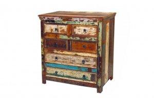 Shabby Chic Möbel Kommode 86x90x47cm Massiv