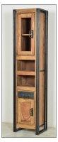 Mango Möbel Metall Vitrine Hochschrank 44x190x34cm
