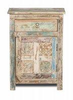 Shabby Chic Möbel Kommode 55x74x33cm Massiv