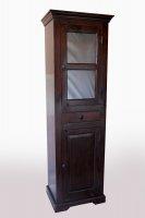 Kolonial Vitrine 61x193x43cm Kolonialstil Möbel Massiv