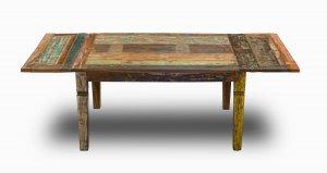 Shabby Chic Vintage Möbel  Esstisch 90x140cm mit Ansteckplatten