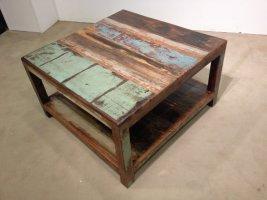 Shabby Chic Möbel Vintage Couchtisch 60x45x60cm