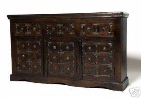 Kolonial Möbel Sideboard 150x90x50cm Massiv