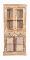 Vintage Möbel Vitrine 90x190x40cm Massivholz