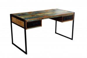 Vintage Möbel Schreibtisch Altholz 145x76x70cm Massiv Plattenstärke 5 cm