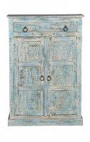 Shabby Chic Möbel Kommode 82x120x40cm Massiv