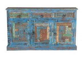Blaue Kommode Sideboard 150x85x40cm Vintage Möbel