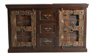 Kolonial Sideboard Massivholz 150x90x45cm