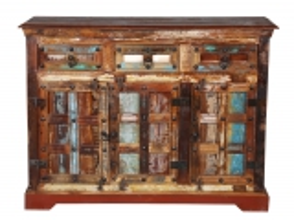 Vintage Massivholz Kommode 120x90x40cm