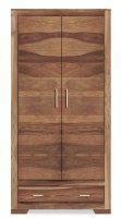 Akazienholz Möbel Schrank Massiv 90x180x45cm