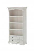 Regal Bücherregal Weiß 100x190x40cm Massiv