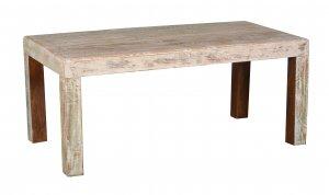Shabby Chic Möbel Esstisch 90x160cm Massivholz
