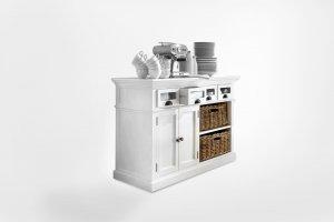 Kommode Sideboard Weiß 125x85x50cm Massiv