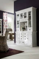 Büffet Küchenschrank Weiß 145x220x50cm Massiv