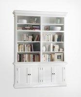 Bücherregal Büffet Weiß 165x220x40cm Massiv