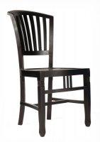 4x Kolonial Stuhl 50x95x55cm Massiv