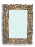 Vintage Spiegel mit Verzierungen 90x130x3cm Massivholz