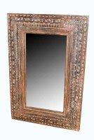 Vintage Spiegel mit Verzierungen 60x90x3cm Massivholz