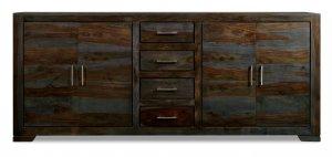 Kolonialmöbel Sideboard Massiv 200x85x45cm